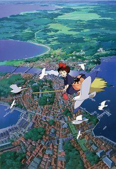 Happy Birthday to Hayao Miyazaki - Master of Animation Hayao Miyazaki (born is both the co-founder of Studio Ghibli and the single most successful and renowned animator in Japan since Osamu. Art Studio Ghibli, Studio Ghibli Films, Hayao Miyazaki, Totoro, Kiki Delivery, Kiki's Delivery Service, Studio Ghibli Background, Animation, Animes Wallpapers