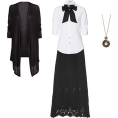 School uniform mori by shortcuttothestars on Polyvore featuring мода, MANGO, Steffen Schraut, Miguelina and Yves Saint Laurent