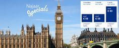 Meest comfortabele, voordelige en ontspannen manier van reizen. Vanaf € 59,- zit u al in Londen en komt u aan in hartje centrum!