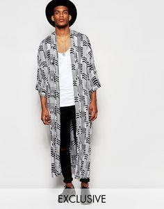 Reclaimed+Vintage+Arrow+Kimono+In+Long+Length