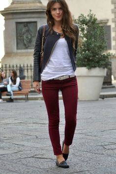 More than 12 ideas to combine with red wine colour| #Moda & #Outfits Mckela