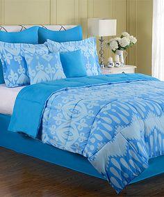 Look at this #zulilyfind! Blue Stella Eight-Piece Comforter Set #zulilyfinds