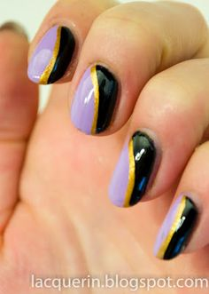 Lilac, gold and black!