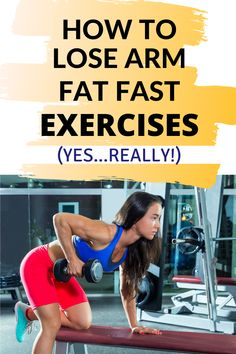 Get rid of the bat wings by toning arm muscles without spending hours in the gym. Home workouts can be both quick and effective! Lose Arm Fat Fast, Lose Belly Fat, How To Lose Weight Fast, Lower Belly, Weight Loss Meal Plan, Fast Weight Loss, Healthy Weight Loss, Workouts For Teens, Easy Workouts