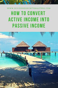 If you stop working you don't make money. That's why you need to invest all active income into passive income. Passive income will still make money and compound even if you don't do any work. Here are 4 ways to convert active incom Stock Market Investing, Investing In Stocks, Investing Money, Real Estate Investing, Investing For Retirement, Early Retirement, Retirement Planning, Financial Planning, Stock Market For Beginners