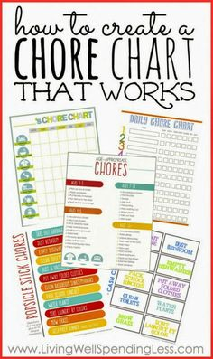 My kids are much more willing to clean using these free chore charts!