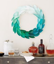 Style at Home - DIY project: Paint chip wreath surpasses all the other paint chip projects I've seen.