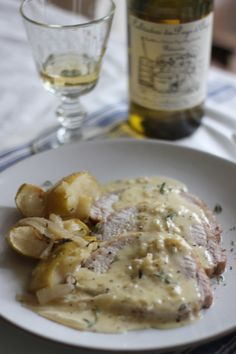 Normandy pork & apples with Calvados & apple cider