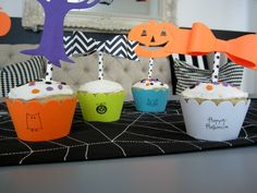 Design Sprinkle: Halloween Party Ideas#NightmareBeforeChristmas #Cupcake #Wrappers #Stamps
