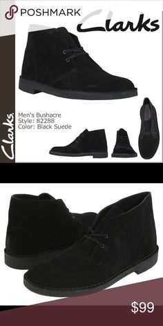 Clarks Original Bushacre 2 Boots Worn once in Fashion Show. Classic Black Clarks Shoes Chukka Boots