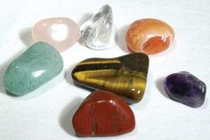 This collection of tumbled stones is intended to aid you in balancing and maintaining the flow of energy in your life to help find those things you seek, in a system rooted in the art of Feng Shui. Each set contains amethyst, for relaxation, aventurine, for luck, carnelian for courage, quartz crystal, for energy, red jasper, for security, rose quartz, for love, and tiger eye for creativity. $10.95