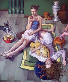 Fran Recacha paintings on Art Served