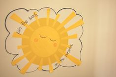 sunshine birthday - pin the smile on the sunshine