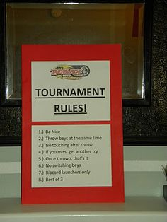 Beyblade party rules