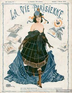 Georges Léonnec 1916 La Vie Parisienne Magazine Birthday, 53 Years !!!