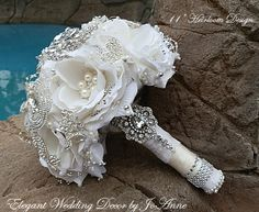 GLAM BROOCH BOUQUET This is A Deposit Only by Elegantweddingdecor