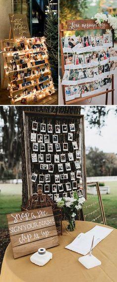 25 Photo Booth wedding guest book rustic wedding ideas wedding light ideas alternative wedding guest book #rusticwedding #weddingideas #guestbook