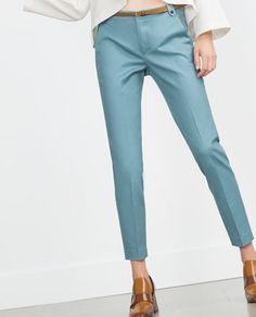Image 2 of DOUBLE FABRIC TROUSERS from Zara