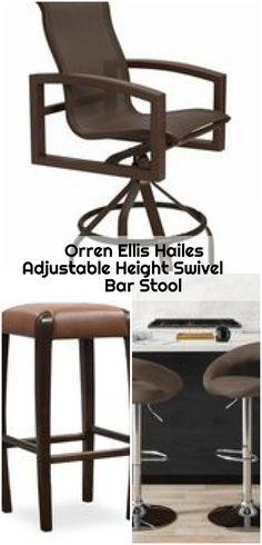 Orren Ellis Hailes Adjustable Height Swivel Bar Stool , Orren Ellis Hailes Adjustable Height Swivel Bar Stool Upholstery: White... ,  #Adjustable #bar #Ellis #Hailes #Height #Orren #Stool #swivel Counter Bar Stools, Swivel Bar Stools, Upholstery, Chair, Furniture, Home Decor, Tapestries, Decoration Home, Room Decor