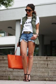 Wear Your Jeans Shorts In a Different Ways - With Vest
