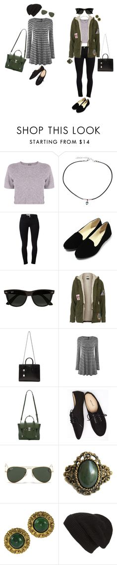 """""""Tell everybody I'm on my way."""" by pristinedisaster ❤ liked on Polyvore featuring Monrow, Frasier Sterling, Frame Denim, Ray-Ban, Topshop, Yves Saint Laurent, 3.1 Phillip Lim, Wet Seal, Chanel and Phase 3"""