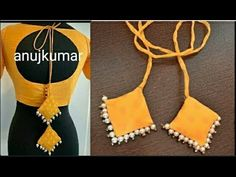 Designer blouse with tussels making (सुन्दर लटकन कैसे बनाएं ब्लाउज या कुर्ती कैसे लिए ) - YouTube Simple Kurta Designs, Saree Blouse Neck Designs, Fancy Blouse Designs, Dress Neck Designs, Designer Blouse Patterns, Dress Sewing Patterns, Saree Tassels Designs, Rakhi Making, Churidar Neck Designs