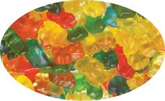 A bulk bag of Trolli Gummy Bears.