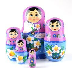 Nesting Doll with Daffodils