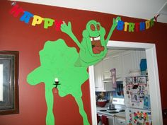 Slimer coming out of the wall...