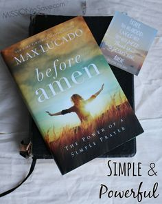 Before Amen by Max Lucado is Simple and Powerful.  And it's the Family Christian Book of the Year for 2015. #FCblogger