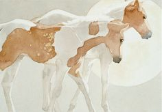 One of my favorite artists, with paint horses!