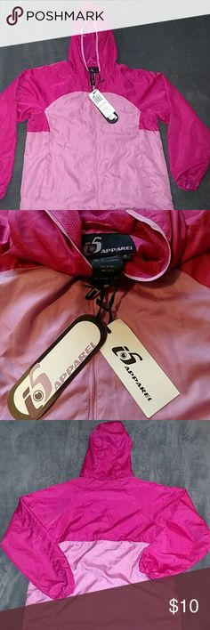NWT Fuchsia & Pink Raincoat Perfect for those rainy days. This brand new raincoat has never been worn. Still has the tags and is waiting for a new home! Apparel Jackets & Coats