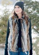 Lemur Faux Fur Hook Vest