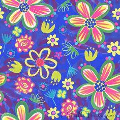 cobalt-blue-floral-pattern
