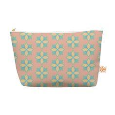 """Deepti Munshaw """"Pattern #1"""" Green Beige Everything Bag"""