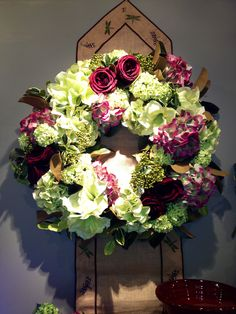 Hydrangea Wreath Centerpiece