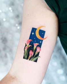 minimalist tattoo meaning Dream Tattoos, Mini Tattoos, Future Tattoos, Body Art Tattoos, Small Tattoos, Pretty Tattoos, Beautiful Tattoos, Night Tattoo, Aesthetic Tattoo