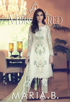 Maria B Fall Winter Mbroidered Unstitched Dresses Collection 2015