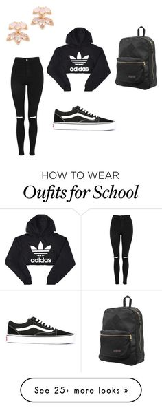 """""""brands"""" by ollie2640 on Polyvore featuring Kate Spade, adidas, Topshop, Vans and JanSport"""