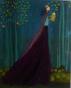 O Lobo Leitor: A princesa lê enquanto passeia pela floresta