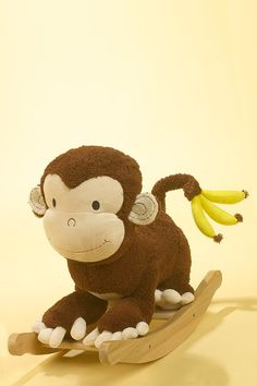 Mocha Monkey Rocker. . .this would be adorable for my lil bro