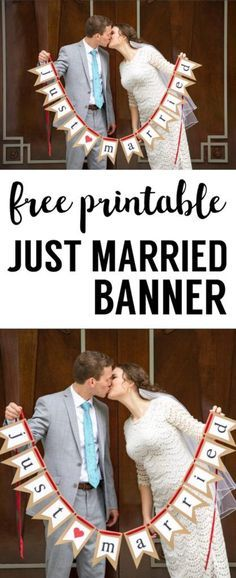 Free Printable Just Married Banner