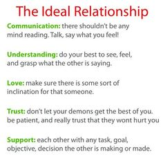 Ideal Relationship in 5 steps. :]