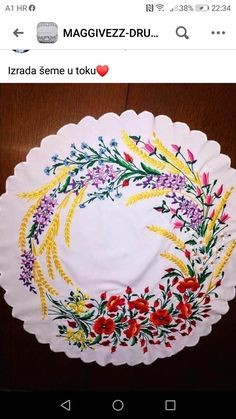 Fabric Paint Designs, Tablecloths, Om, Birthday Cake, Embroidery, Tableware, Board, Painting, Embroidery Patterns