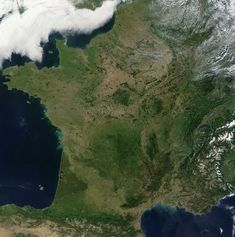 Carte de France vue par un satellite