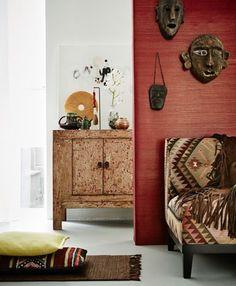 Modern ethnic style interior.