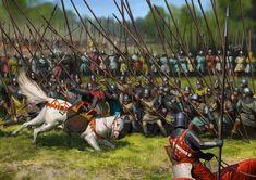 Battle of Bannockburn, June La Pintura y la Guerra. Medieval Knight, Medieval Art, Medieval Fantasy, Military Art, Military History, High Middle Ages, Armadura Medieval, Historical Art, Dark Ages
