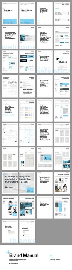 Brand Manual and Identity Template – Corporate Design Brochure – with 40 Pages and Real Text!Minimal and Professional Brand Manual and Identity Brochure template for creative businesses, created in Adobe InDesign in International DIN and US Letter… Web Design, Book Design, Layout Design, Graphic Design, Editorial Layout, Editorial Design, Corporate Design, Branding Design, Business Design