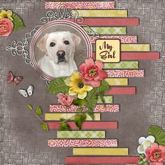 My Girl scrapbook layout by Pam Callaghan