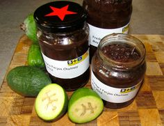 Fredge's Feijoa Chutney, great to make when you have an abundance of feijoa. Cooking Recipes, Healthy Recipes, Healthy Food, My Jam, Favorite Pastime, Recipe Using, I Foods, Preserves, Cucumber